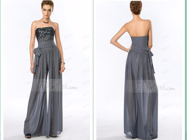 c946571eb63 summer style jumpsuit vestido maxi new fashion party prom gown beading  Formal evening pant suits mother