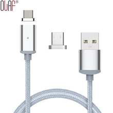 Olaf 1M Braided Magnetic Fast Charging USB Cable Micro USB 3.1 Data Sync Cable For Android Samsung Xiaomi HTC Mobile Phone Cable