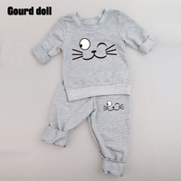 0 24M Baby Clothing Sets Spring Autumn Baby Boys Girls Clothes Long Sleeve T Shirt Pants