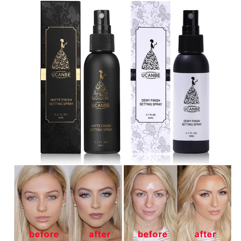 Ucanbe Makeup Setting Spray Dewy Or Matte Finish Face Mist Long Lasting Foundation Protector Oil Control Base Cosmetics Fixer Aliexpress