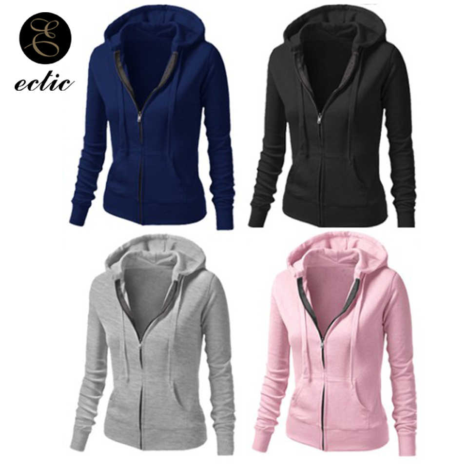 ... Poleron Mujer 2019 Tumblr Sweatshirt Zip Up Hoodie Drawstring New Women  Thicken Slim Hooded Vs Pink ... 18c3f5fc5b86
