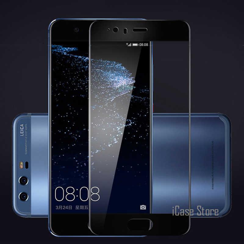 Cobertura completa Protetor de Tela de Vidro Temperado Para Huawei Lite P8 P10 2017 P9 Plus Nova Honor 6x7 8 Colorido Filme Temperado caso