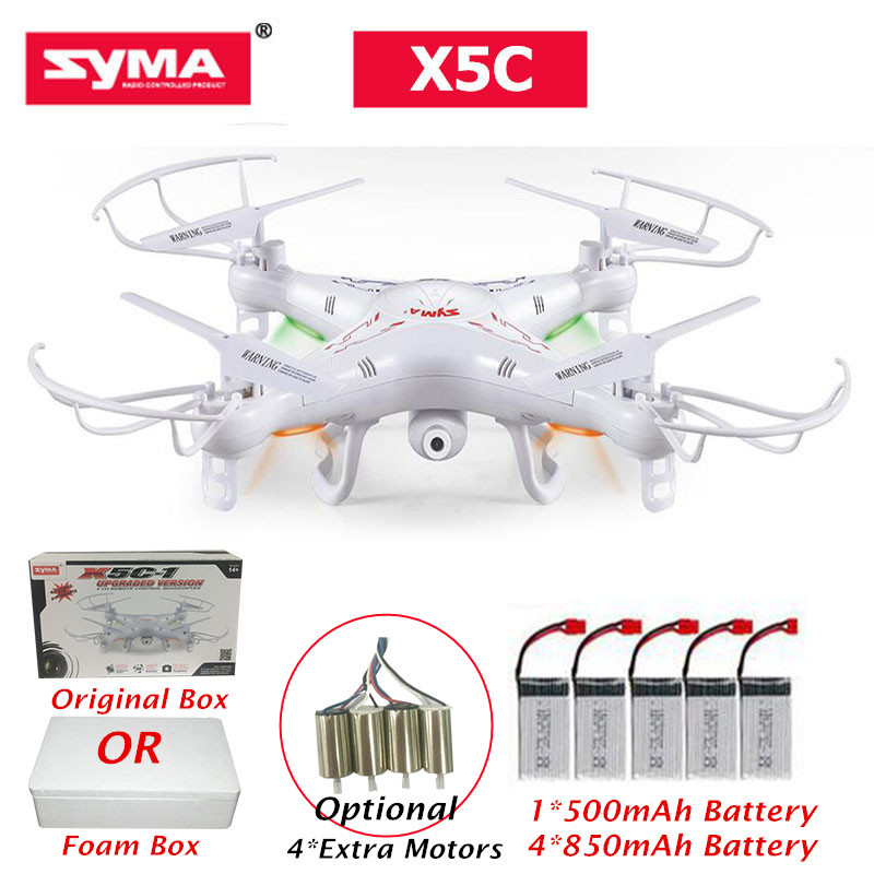 d41c380c5dca Original syma x5c remote control rc helicopter Drone Quadcopter with HD  Camera 2MP Professional Dron Toys with 5 Battery 323.7 ₪