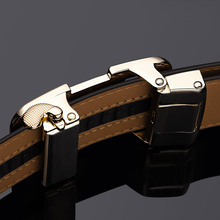 Automatic Buckle Luxury Leather Men's Belt