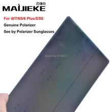 100 ADET MAIJIEKE Ori LCD Ekran Polarize filmi iPhone 5 5 s 6 6 s 7 8 artı Polarize film Tarafından Görmek Ploarizer Güneş Gözlüğü