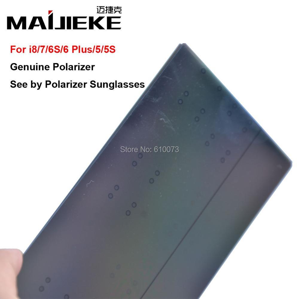 100PCS MAIJIEKE Ori LCD Screen Polarizer film for iPhone 5 5s 6 6s 7 8 plus Polarizing Film See By Ploarizer Sunglasses