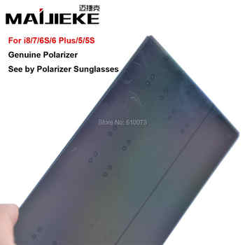 100PCS MAIJIEKE Ori LCD Screen Polarizer film for iPhone 5 5s 6 6s 7 8 plus Polarizing Film See By Ploarizer Sunglasses - DISCOUNT ITEM  0% OFF All Category