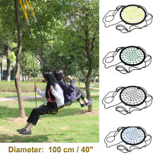 440lbs 40″ Disc Giant Nest Web Net Tree Swing Rope Hanging Swing Heavy Duty For Garden Backyard Outdoor For Kids Children Adult