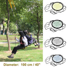 "440lbs 40"" Disc Giant Nest Web Net Tree Swing Rope Hanging Swing Heavy Duty For Garden Backyard Outdoor For Kids Children Adult(China)"