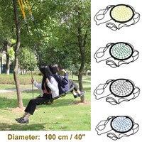 440lbs 40 Disc Giant Nest Web Net Tree Swing Rope Hanging Swing Heavy Duty For Garden Backyard Outdoor For Kids Children Adult