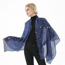 Bufanda con Estampado de Estrellas y Luna