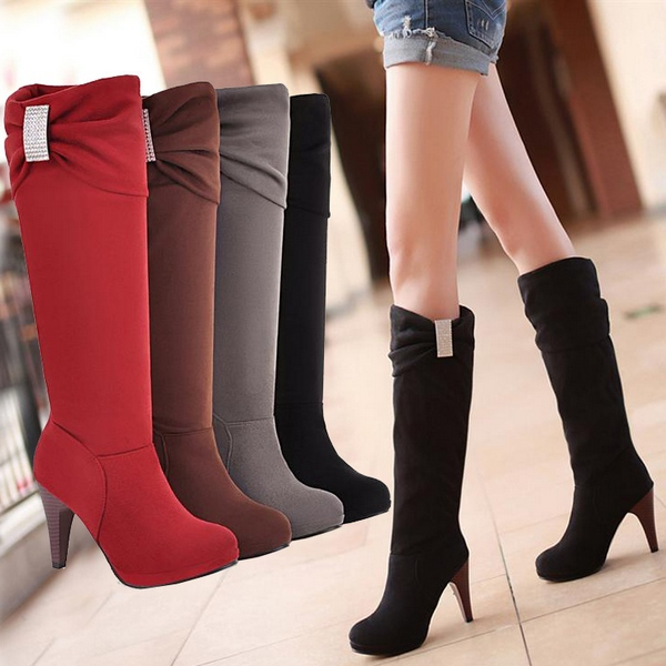 New Fashion Women's Girls Hot Designed Boots Sexy Faux Suede ...