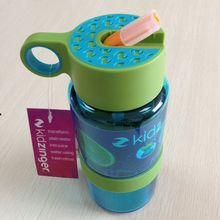 Nueva llegada de corea del sur los niños lemon botella de jugo de frutas botella de plástico con paja botella de agua drinkware deportes al aire libre