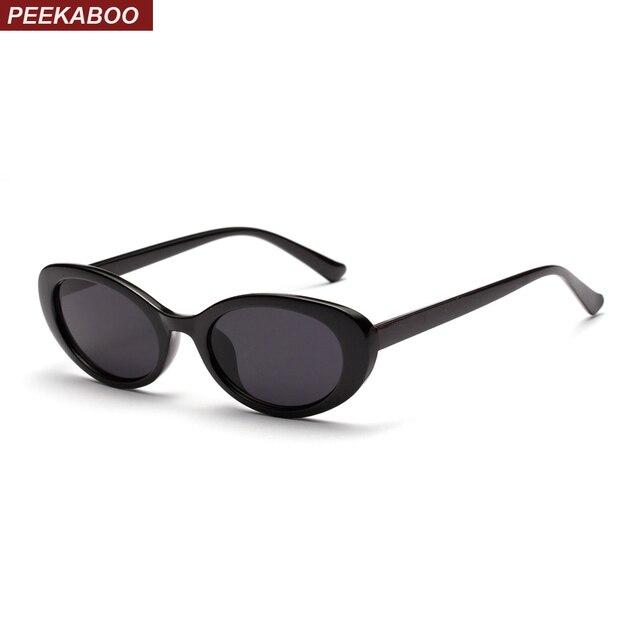 b259ca4d7387e Peekaboo acessórios retro oval óculos de sol das mulheres pequeno verão  2018 rosa branco preto oval