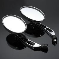 1 Pair 10mm Chrome Round   Motorcycle   Bike Mirrors fit Motorbike   Accessories