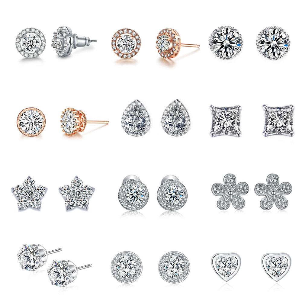 UMODE Mode CZ Crystal Stud örhänge för kvinnor bröllop engagemang - Märkessmycken - Foto 2