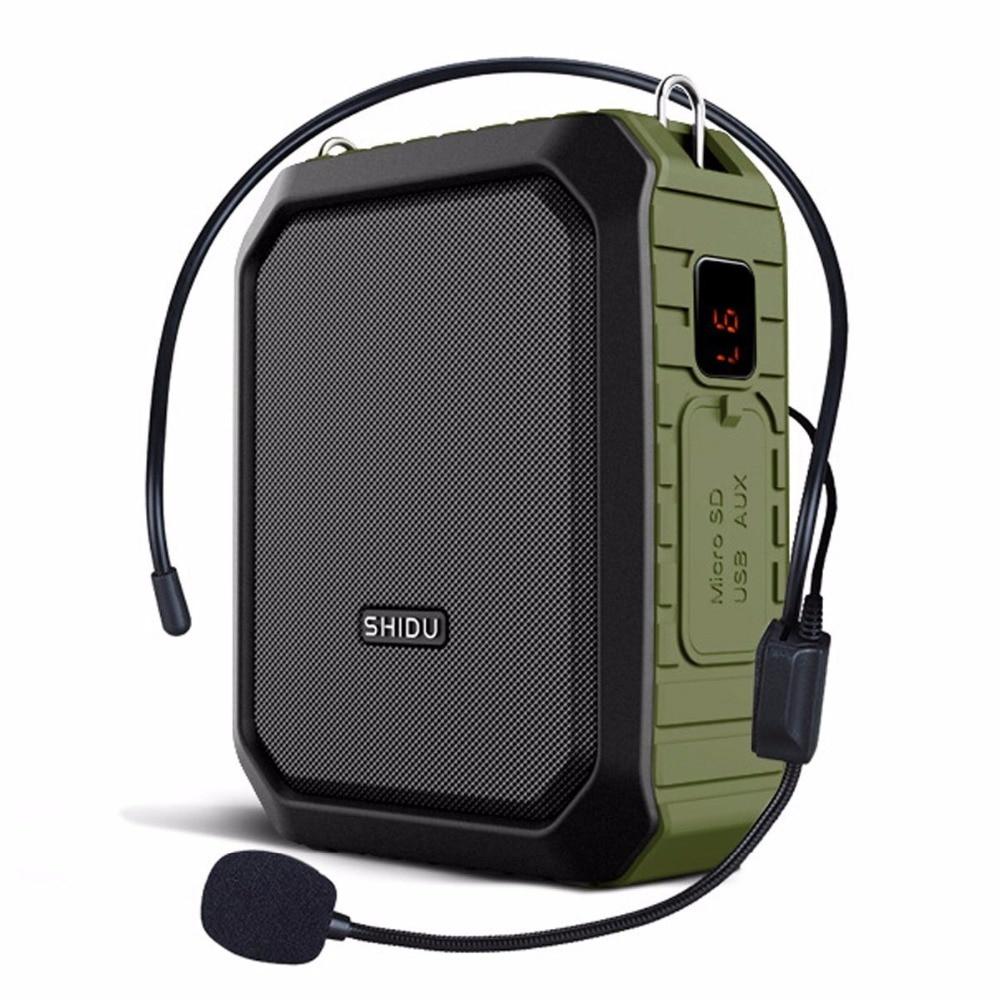 voice amplifier with microphone headset megaphone clip amp portable bluetooth loudspeaker power. Black Bedroom Furniture Sets. Home Design Ideas