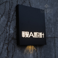 Signbord Outdoor Outlet Sign Stainless Steel Backlit LED Light Billboard For Store Bar Hotel Customized Design