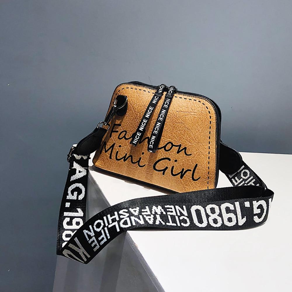bags for women 2019 Women Crossbody Bag Tide Shell Bag Wide Shoulder Strap Wild Shoulder Bag mochila feminina /0.7(China)