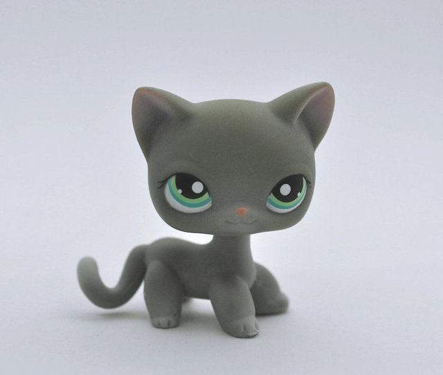 CAT Pet Animal child LPS Gray Blue Eyes Figure Toy
