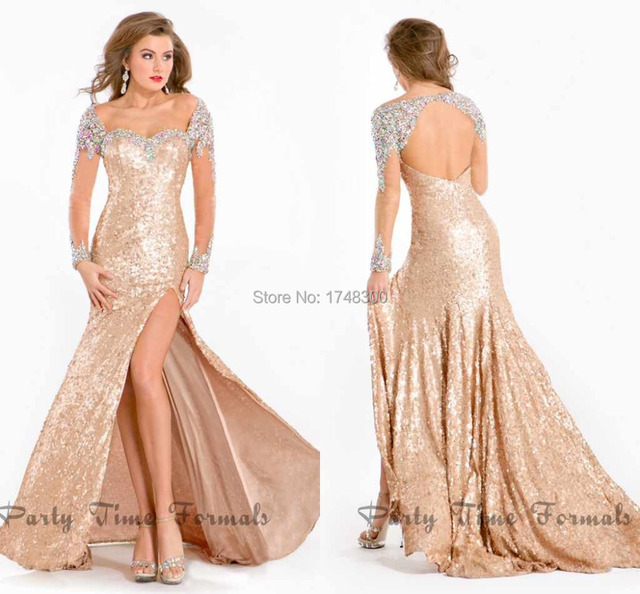Formal Dresses with Rhinestones