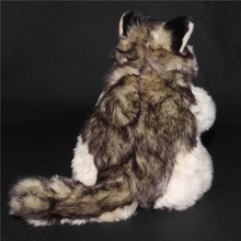 Plush Wolf Simulation  Animals Doll Toys Big  Hand  Puppet Toy Gift