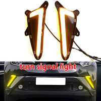 Car Daytime DRL Lamp 2pcs Front Yellow White LED Driving Running Day Light For Toyota CHR