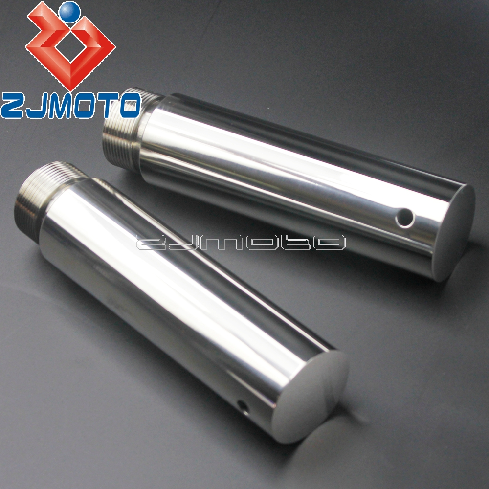 Motorcycle 39mm Fork Tube 5in Extension For Harley Dyna Glide Sportster FXD XL1200 XL883 5 Tube