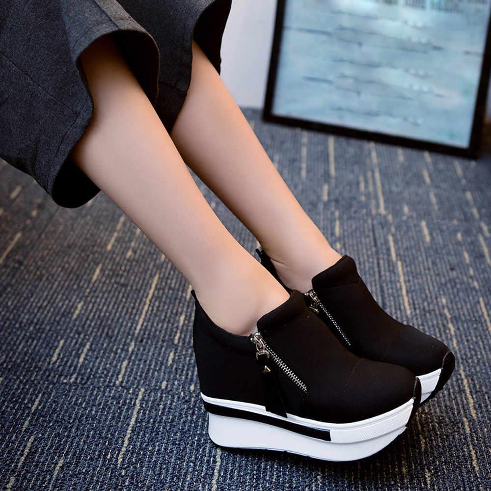Nêm Giày Bốt Nữ 2019 Giày Đế Người Phụ Nữ Dây Leo Trơn Trượt Trên Mắt Cá Chân Giày Đế Bằng Nữ Giày Nữ Balo Nữ Thời Trang Họa Plus Kích Thước