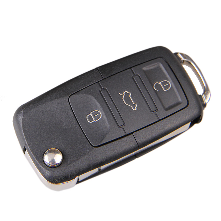 New 3 Buttons Folding Flip Remote Key Fob Case Shell For Volkswagen VW Golf Passat Polo