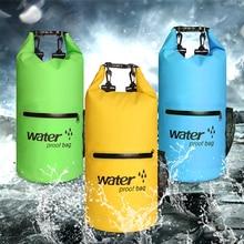 New 10L/20L Outdoor Waterproof Swimming Bag Swim Dry Backpack Folding Storage Travel Bag Big Capacity For Canoeing Kayak Rafting цена