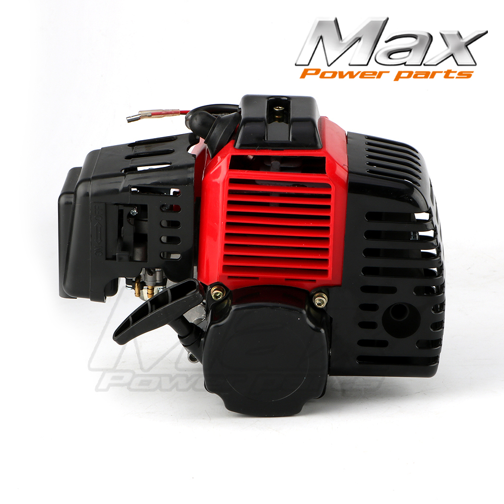 Complete 43cc 47cc 49cc 2 Stroke Engine Motor for Mini Pocket Bike Gas G-Scooter ATV Quad Bicycle Brush Cutter Engine throttle hand grips brake levers throttle housing set for goped gas scooter 43cc 47cc 49cc minimoto bicycle parts