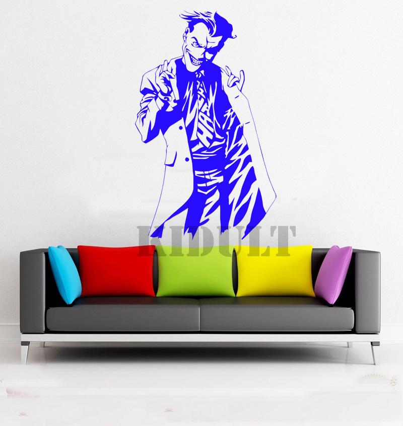 Clown Wandaufkleber Jack DC Marvel Comics Superheld Vinyl Wandtattoos  Indoor Den Wohnzimmer-größe Flache Hintergrund