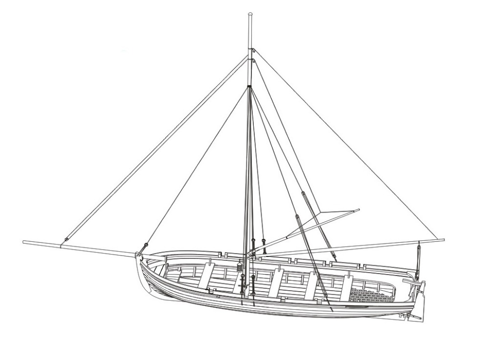NIDALE Model Scale 1/24 the Luxury Yacht Sweden 1770 sailboat model ...