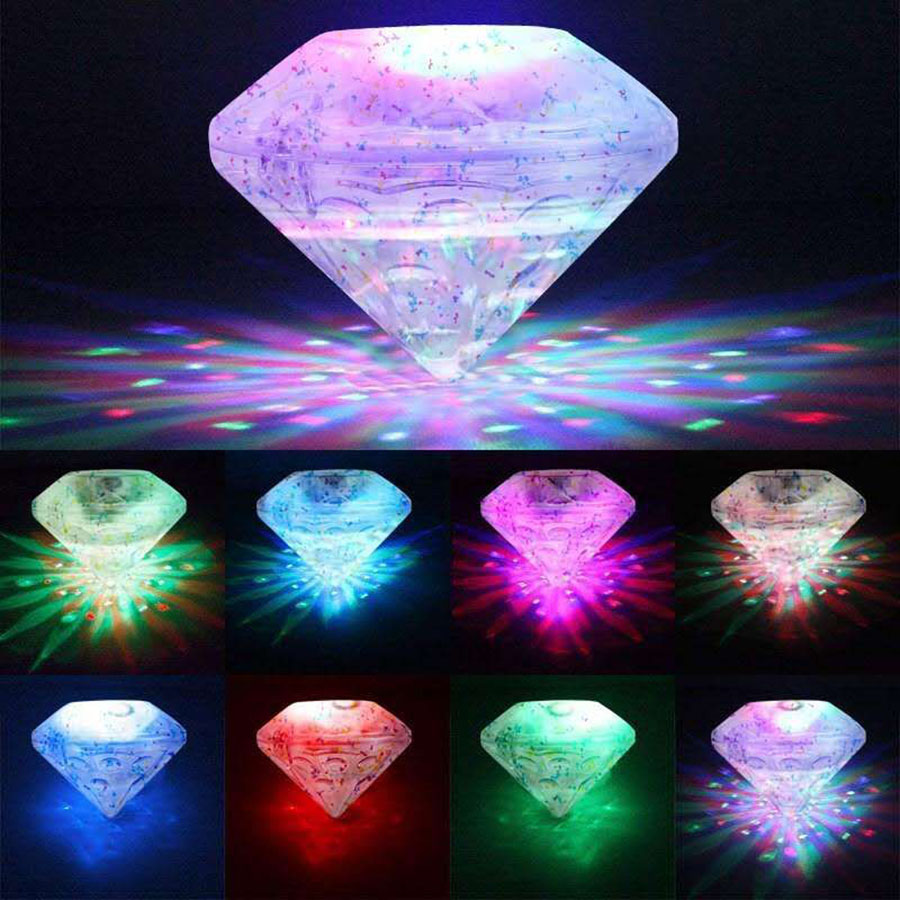 RGB Floating Underwater LED Disco Light Glow Show Swimming Pool Pond Hot Tub Spa Lamp Waterproof Outdoor Party Decorations Light