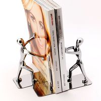 1 Pair Strong Metal Book Ends Bookends Bookstand Designed For Student Desk Accessories Organizer