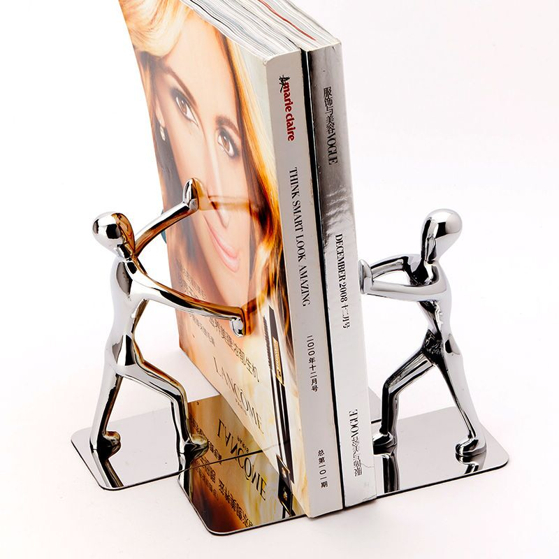 1 Pair Strong Metal Book Ends Bookends Bookstand Designed For Student Desk Accessories Organizer storyfun for flyers student s book