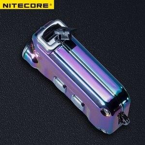 Image 4 - Nitecore TINI SS USB TINISS נטענת פלדת LED מפתח אור CREE XP G2 S3 LED 380 LM כולל USB נטענת ליתיום סוללה