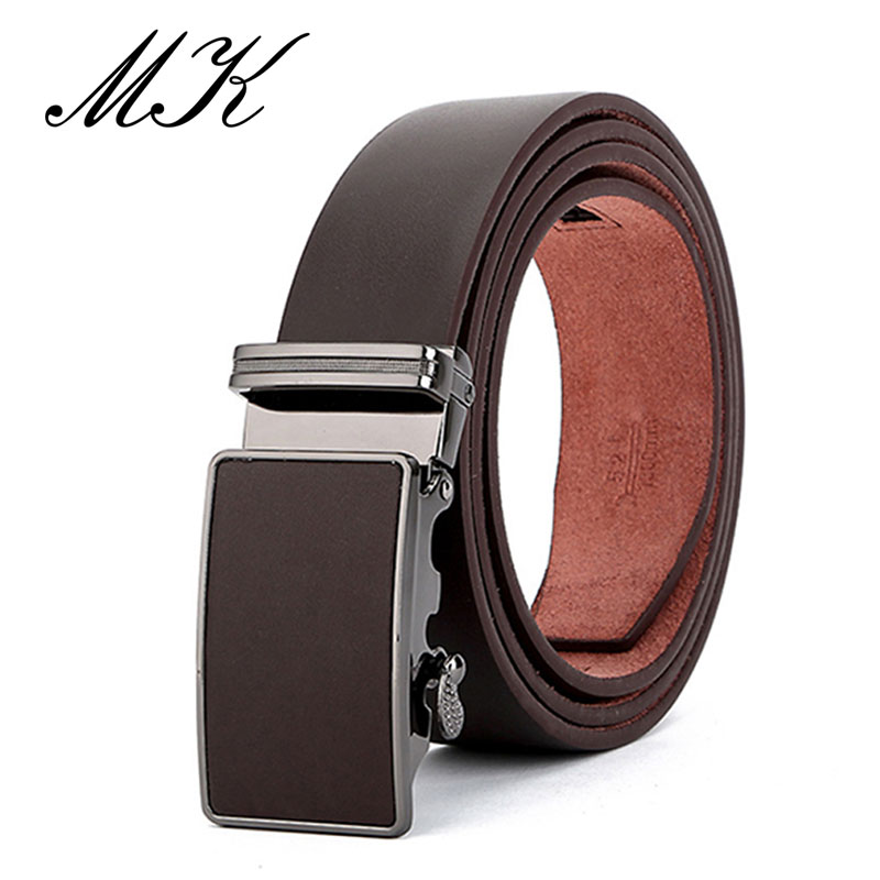 Maikun Men 39 s Belts for Men Belt Vintage Style Genuine Leather Male Belt High Quality Automatic Buckle in Men 39 s Belts from Apparel Accessories
