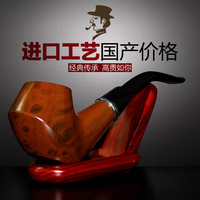 Chinese specialty Smoking pipe gift ebony wood handmade filter smoking pipe tobacco male solid wood tools Chinese specialty
