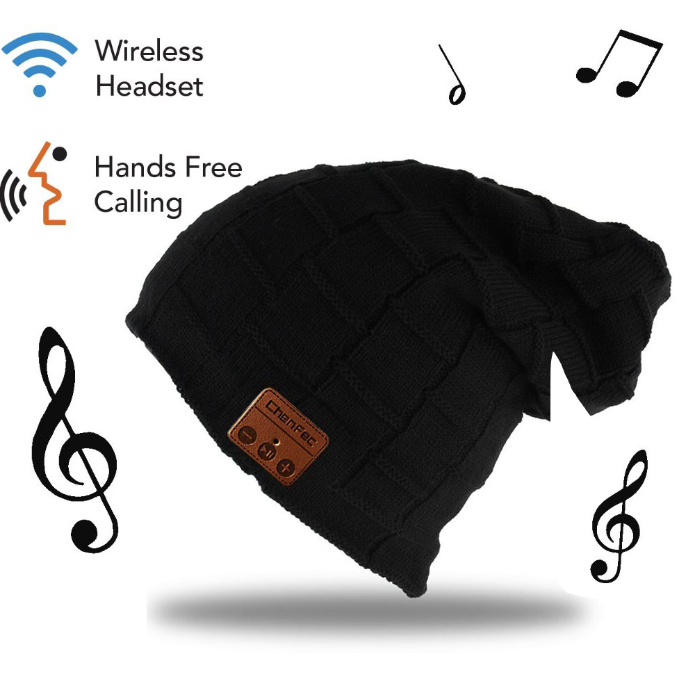 Bluetooth 4.2 Music Hat Headphone Headset Earphone for Women Men with Speaker Mic Supports TF Card, Package box, Christmas Gifts high quality bluetooth smart cap headphone headset earphone soft warm beanie hat speaker music hat headphones with microphone