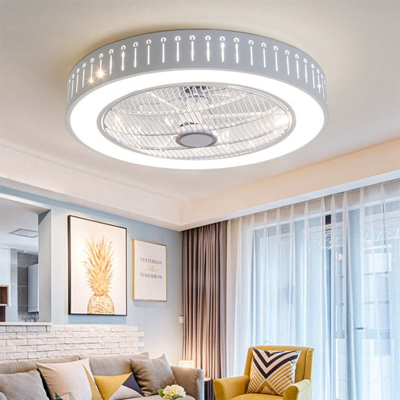 Ceiling Fan With Light Remote Control LED Ceiling Lamp Dimmable Bedroom Office