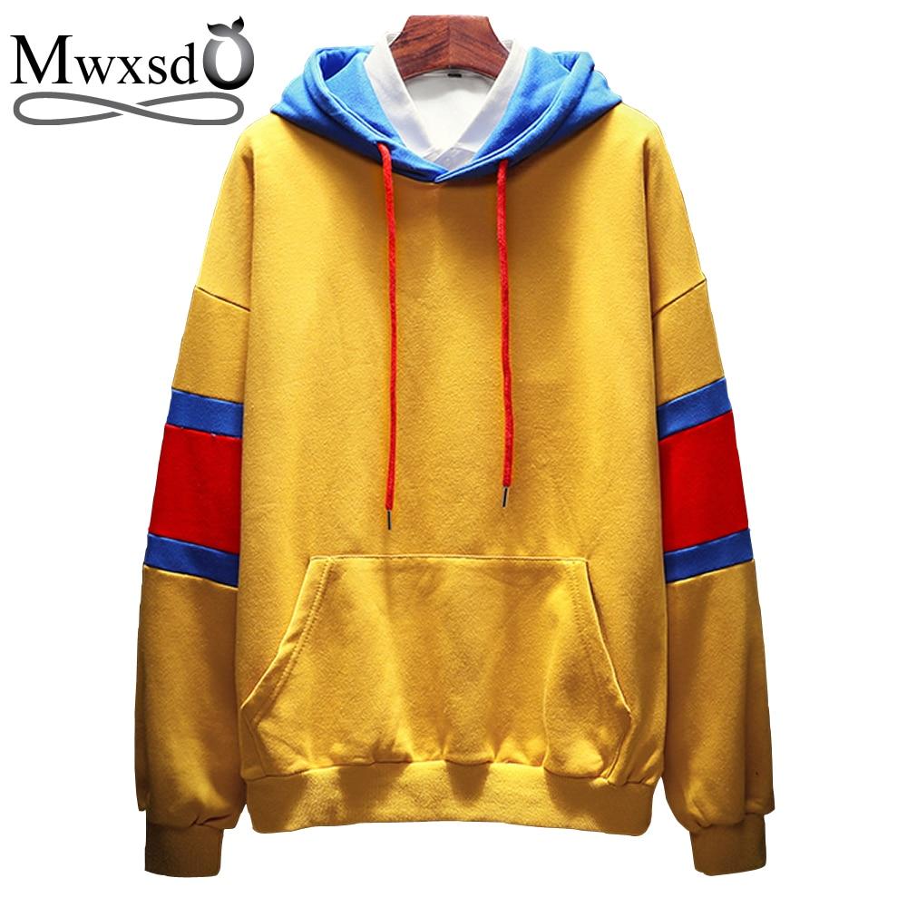 Mwxsd brand fashion men hoodies solid cos