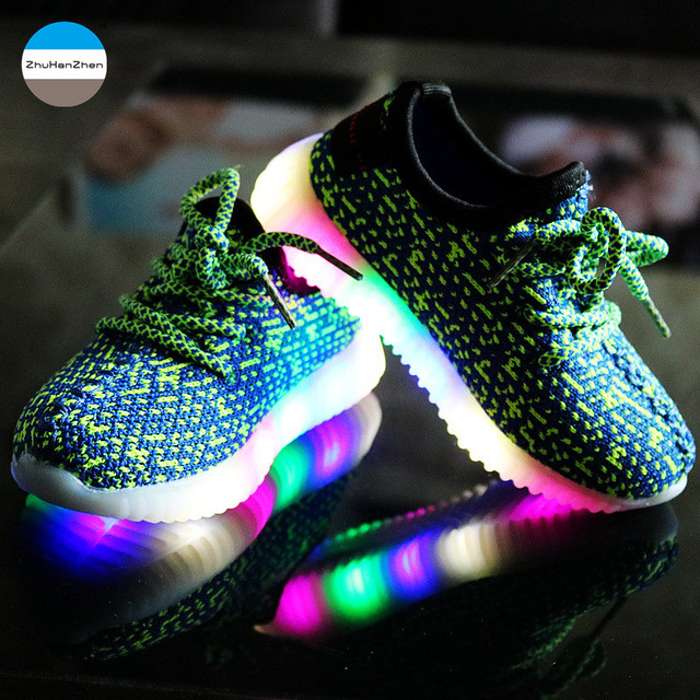 2018 Autumn Led Light Glowing Kids Sneakers 2 To 10 Year Old Baby Boys And S Casual Sport Shoes Children Running