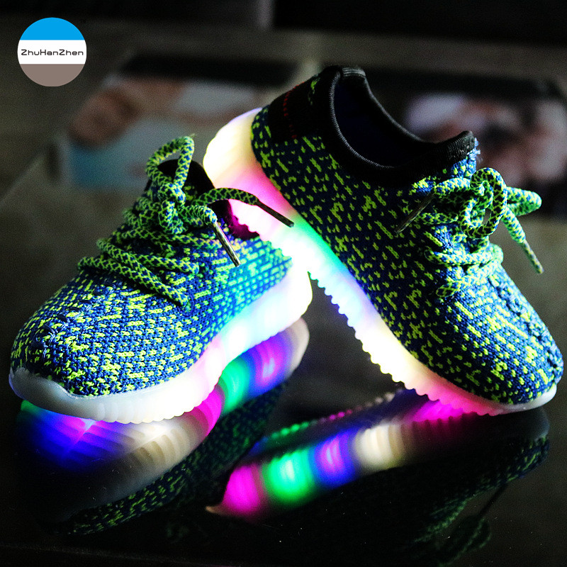 50% price crazy price excellent quality US $11.04 15% OFF|2019 Autumn LED light glowing kids sneakers 2 to 10 year  old baby boys and girls casual sport shoes children running shoes-in ...