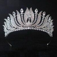New Arrival Gorgeous Crystal Peacock Beauty Women Big Crown Fashion Noble Rhinestone Tiara For Bride Wedding