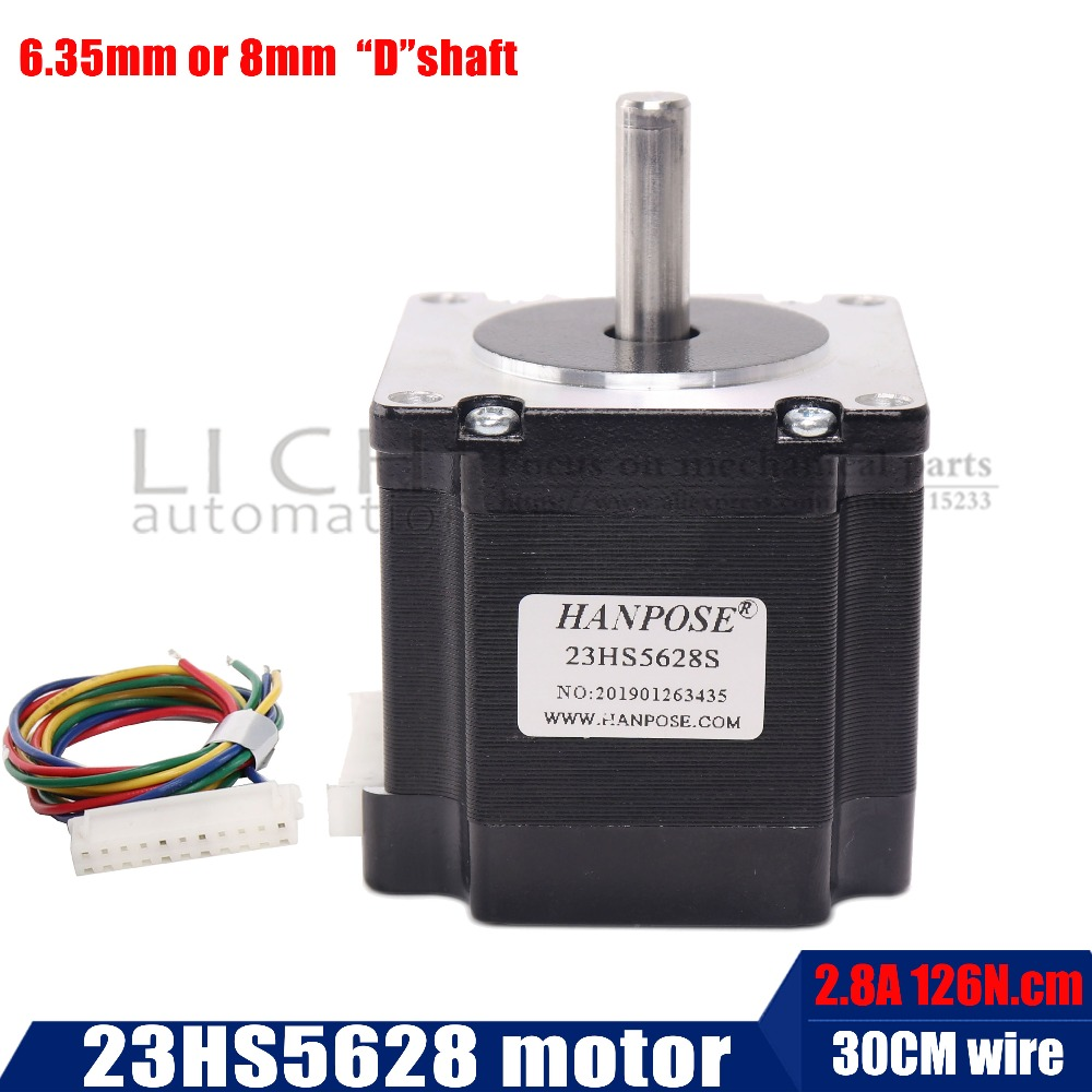 Free shipping 4-lead Nema 23 23HS5628S Stepper Motor 57 motor 165 Oz-in 56mm 2.8A diame CNC Laser Grind Foam Plasma CutFree shipping 4-lead Nema 23 23HS5628S Stepper Motor 57 motor 165 Oz-in 56mm 2.8A diame CNC Laser Grind Foam Plasma Cut