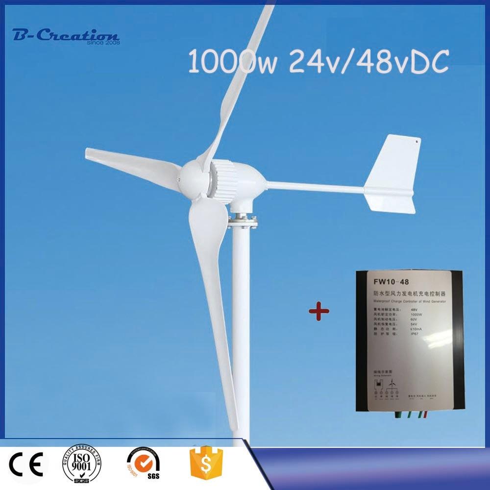 Generador Eolico Gerador De Energia Low Rpm Generator 1000w 24v/48v Wind For Turbine With Waterproof Controller For Home Use