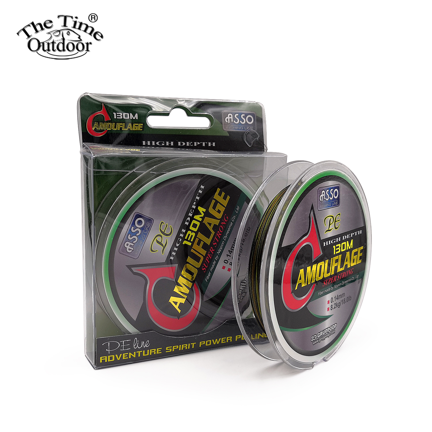 ASSO Italy 130M 4X Multifilament PE Braided Fishing Line Super Strong Braided Line Fishing Lines Tackle pesca