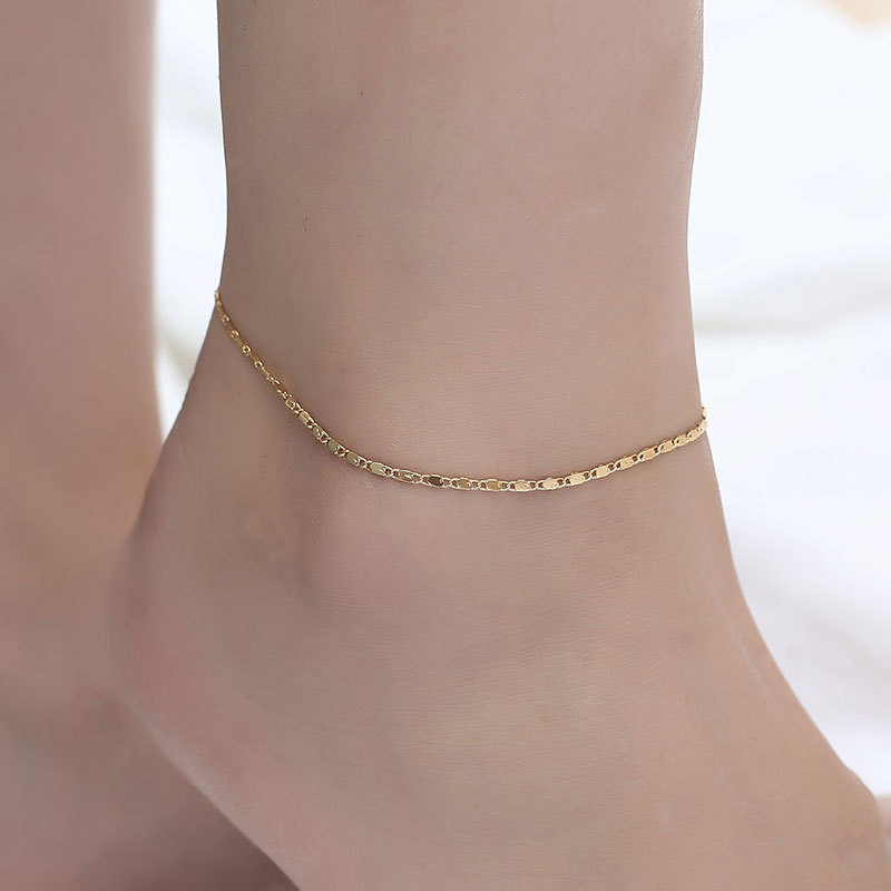 Fine Sexy Anklet For Women Silver Gold Color Bijoux Foot Chain Women On The Leg Simple Beach Bracelet Barefoot Jewelry Female